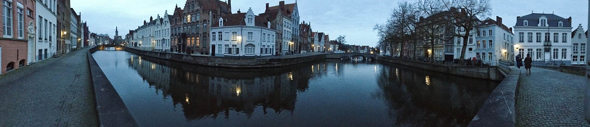 panorama iphone 4s spinolarei canale canals luci lights notte night bruges brugge belgio belgium Canon 50mm f/1.8 5d ff