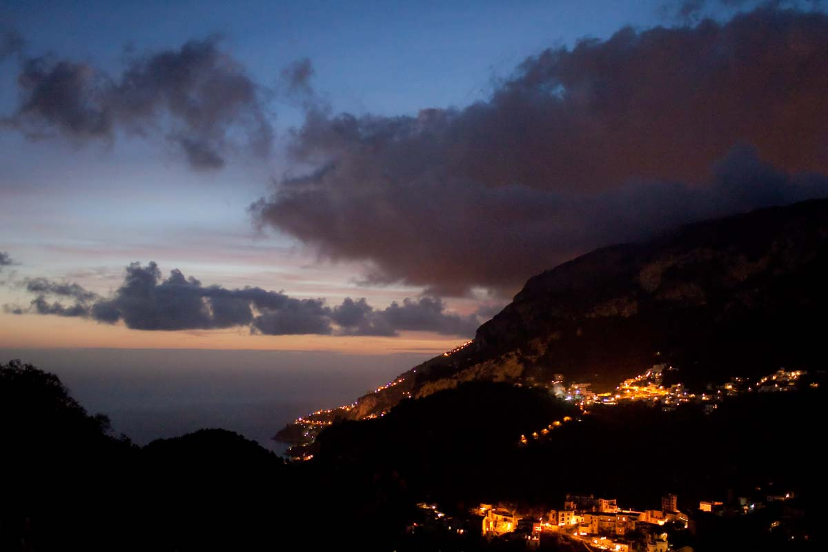 panorama costiera view notte night ravello campania Canon 35mm f/1.4 5d ff