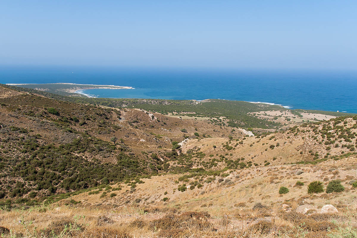 view panorama lara beach road street strada raw sterrata cipro cyprus holiday vacanze sea mare Πάφος Pafos Polis