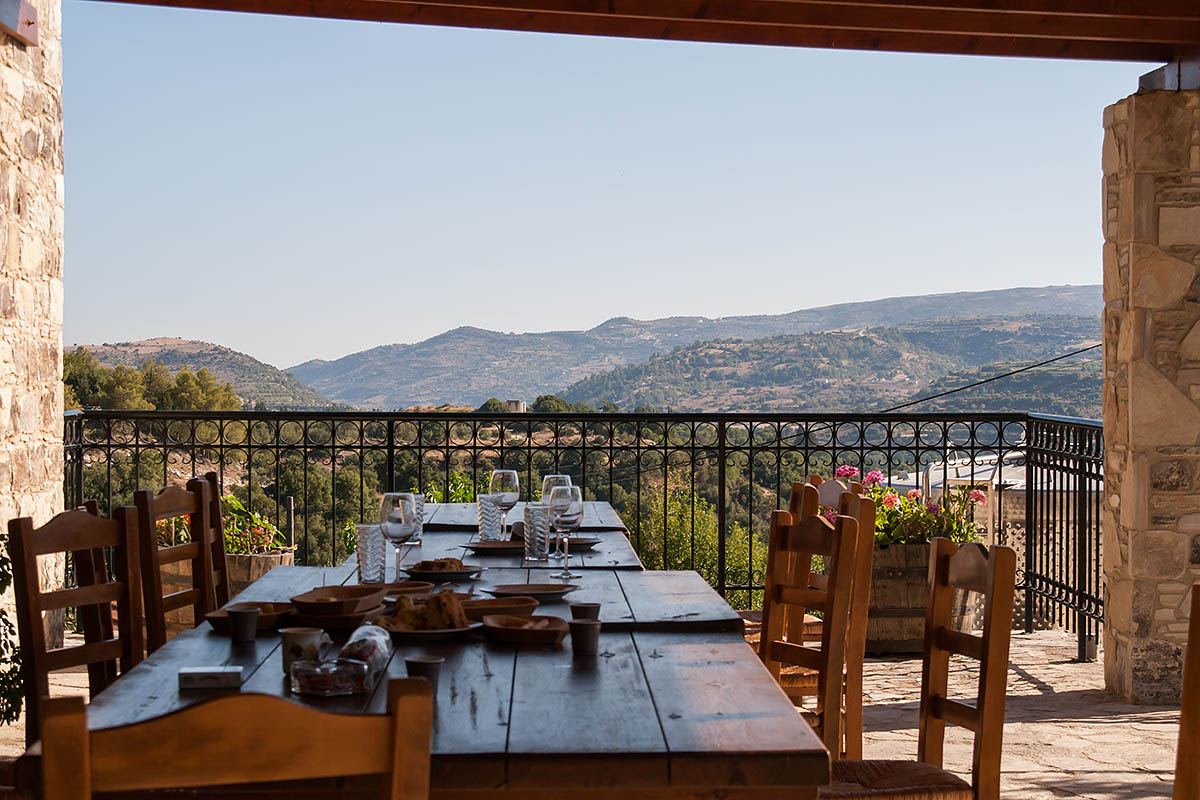 TSANGARIDES winery wine table taste view panorama country cipro cyprus holiday vacanze sea mare Πάφος Pafos Polis